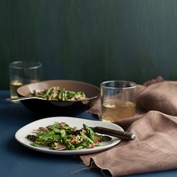 Asparagus and Mushoroom Miso Walnut Salad-66