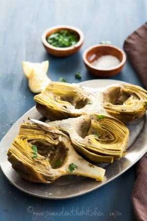 Oven Braised Artichokes with Garlic and Thyme Gourmande in the Kitchen