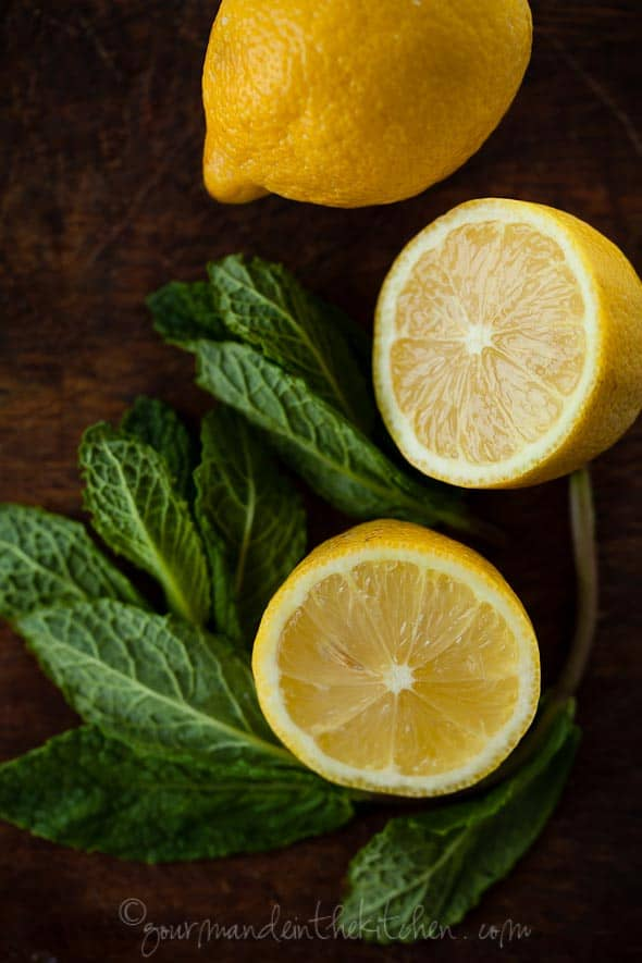 Lemons and Mint Gourmande in the Kitchen