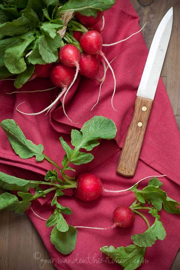 Red Redishes, gourmande in the kitchen, sylvie shirazi, food photogrpahy