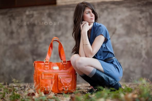 kelly moore bag in orange