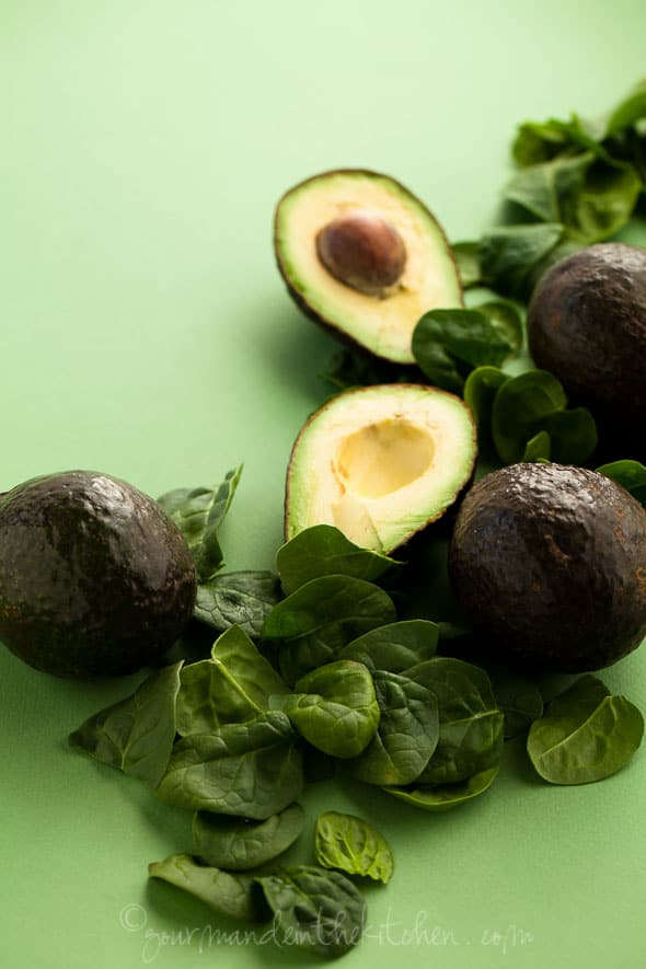 Avocados and Spinach, Sylvie Shirazi Photogrpahy, food photography, Gourmande in the Kitchen
