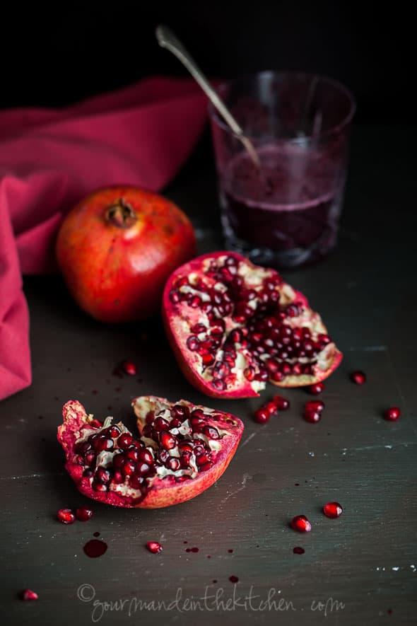 Blueberry Pomegranate Matcha Tea Slushy, Gourmande in the Kitchen, Sylvie Shirazi Photography, food photography