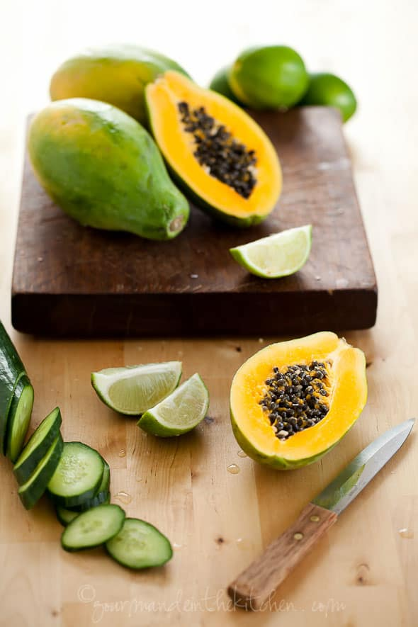 Papayas and Cucumbers, Sylvie Shirazi Photography, food photography, Gourmande in the Kitchen