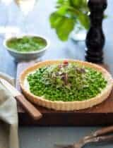 Pea and Herbed Goat Cheese Tart | Spring on a Plate (Gluten Free and Grain Free)