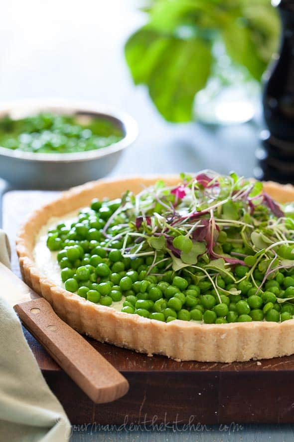 Pea and herbed Goat Cheese Tart 40 Pea and Herbed Goat Cheese Tart | Spring on a Plate (Gluten Free and Grain Free)
