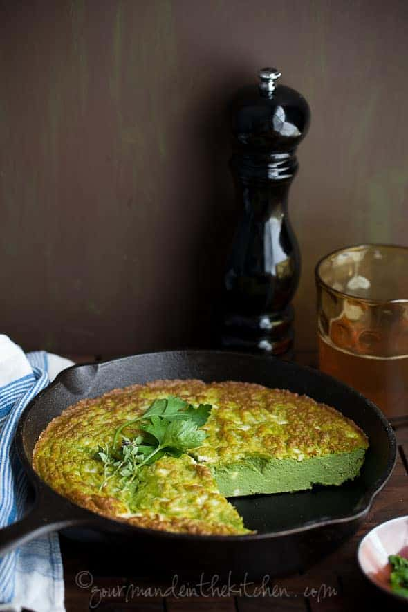 Ricotta, Feta Herb Frittata, Sylvie Shirazi Photography, Gourmande in the Kitchen, food photography