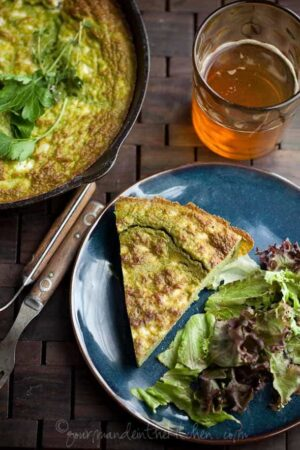 Ricotta Herb Frittata with Feta, Sylvie Shirazi Photography, Gourmande in the Kitchen, food photography