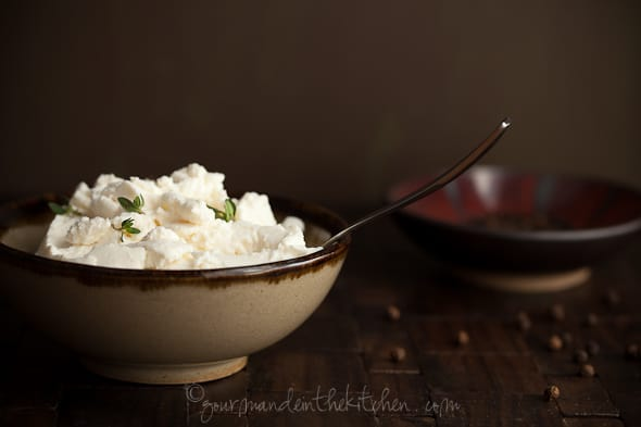 Ricotta with thyme, Sylvie Shirazi Photography, Gourmande in the Kitchen, food photography