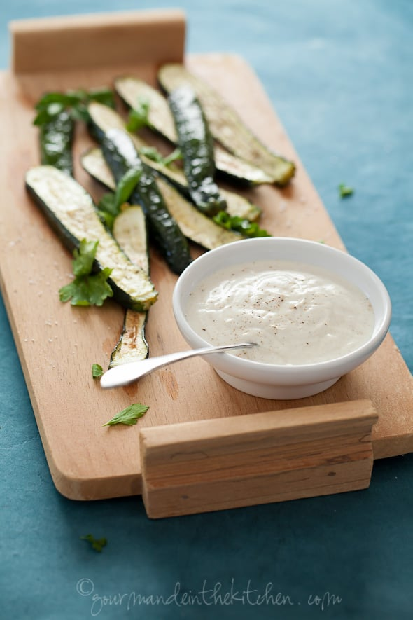 Grilled Zucchini with Cumin Yogurt Sauce Gourmande in the Kitchen
