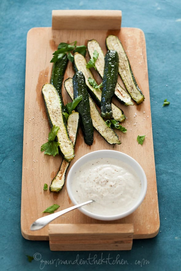 Grilled Zucchini with Cumin Yogurt Sauce Gourmande in the Kitchen