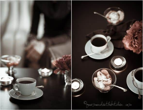 dessert and coffee, sylvie shirazi photography, gourmande in the kitchen, food photography