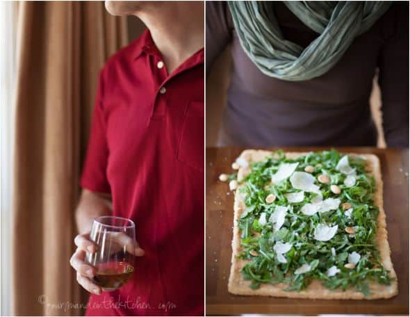 dinner party guest and grainfree flatbread, gourmande in the kitchen, sylvie shirazi photography