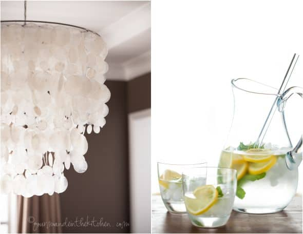 mint and lemon infused water, gourmande in the kitchen, sylvie shirazi photography, food photography