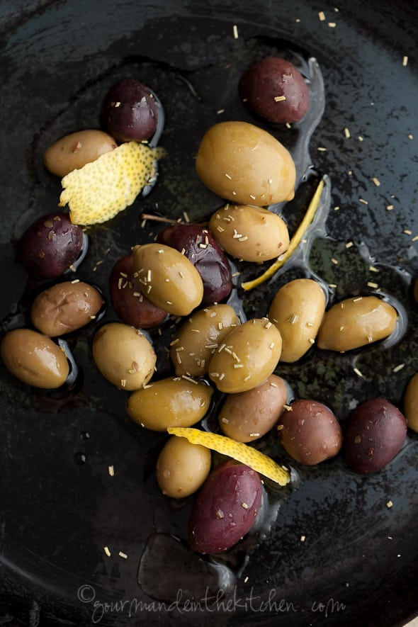 rosemary and thyme olives, sylvie shirazi photography, gourmande in the kitchen, food photography