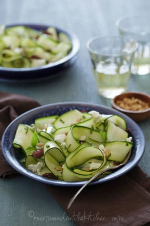 Zucchini Ribbons with Goat Cheese and Olives Sylvie Shirazi