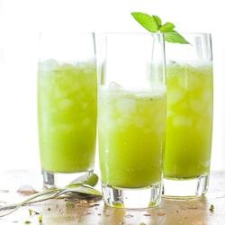 sparkling pineapple mint juice-22