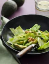 Avocado and Romaine Salad with Walnuts