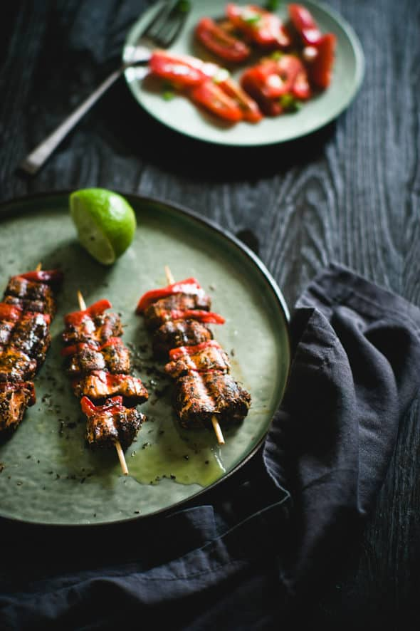 Cajun Style Salmon Souvlaki for the Soul 590x886 Learning Your Camera and How to Shoot Moody Images with Peter Georgakopoulos | Summer Food Photography Series Part Three