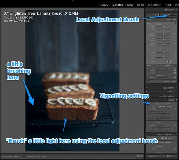 editing in lightroom