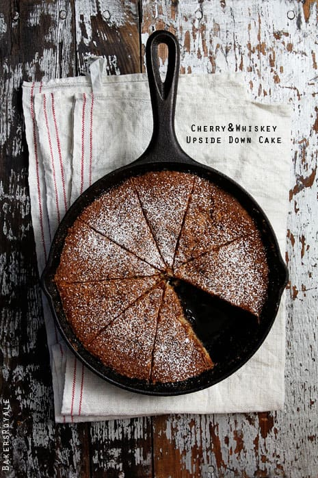 Cherry and Whiskey Upside Down Cake