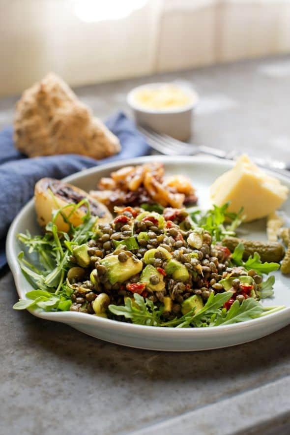 Jim Scherer Lentil Avocado Salad