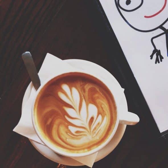 coffee art, latte