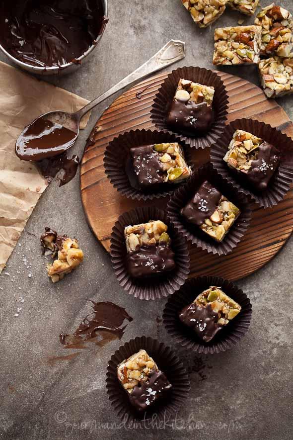 Chocolate Dipped Nut Bites Recipe, sylvie shirazi, food photography, los angeles food photographer