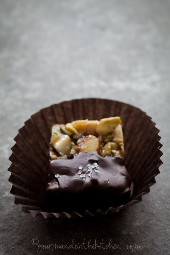 sylvie shirazi, food photography, los angeles food photographer, chocolate dipped nut bites recipe
