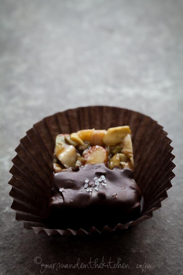 sylvie shirazi, food photography, los angeles food photographer, chocolate dipped nut bites recipe
