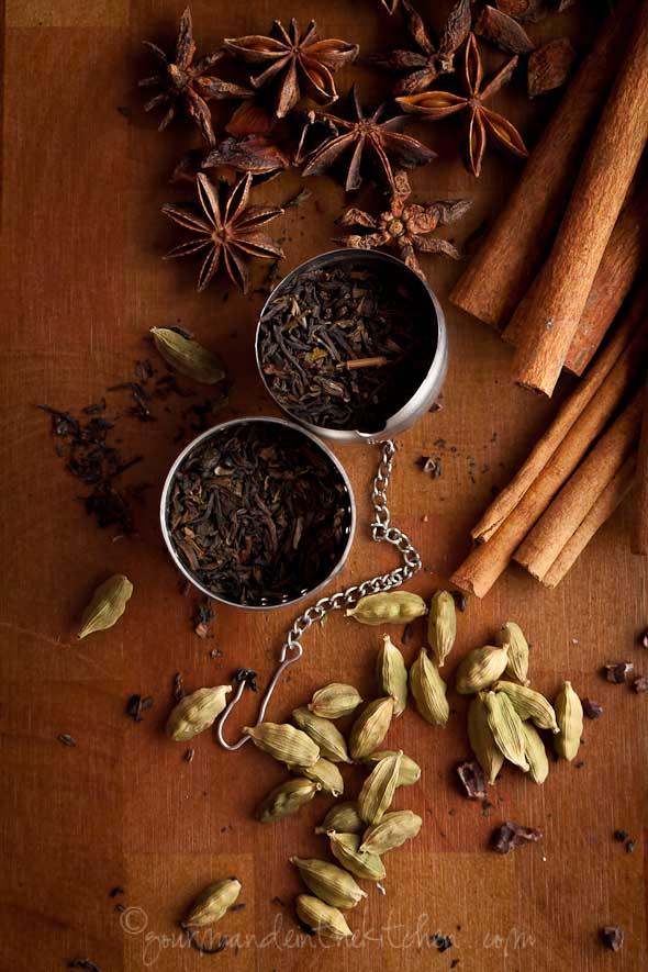tea, star anise, cardamom, cinnamon sticks, los angeles food photographer, food photography