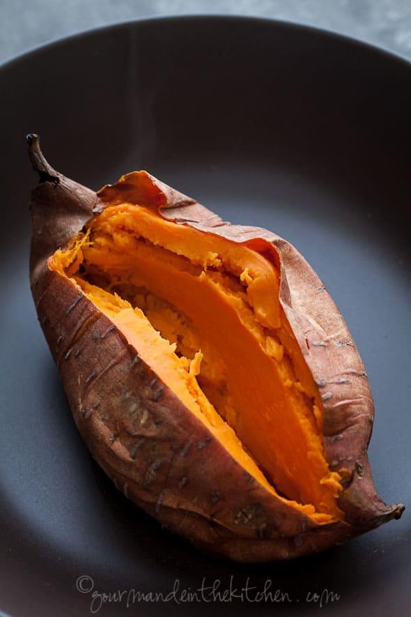 sweet potato split open