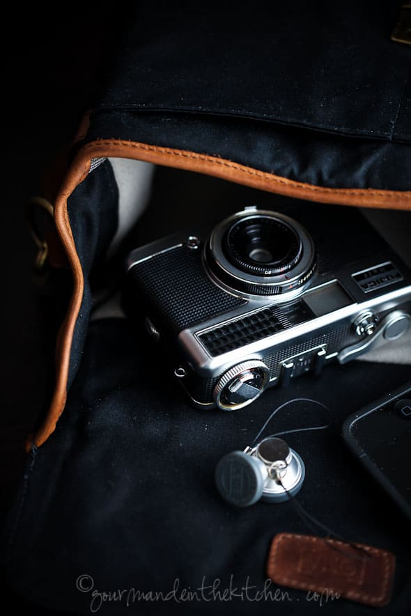 ONA bag, camera bag review, gourmande in the kitchen, sylvie shirazi photography