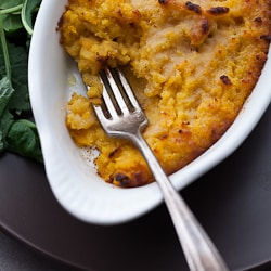 Twice Baked Roasted Butternut Squash Puree with Parmesan and Sage