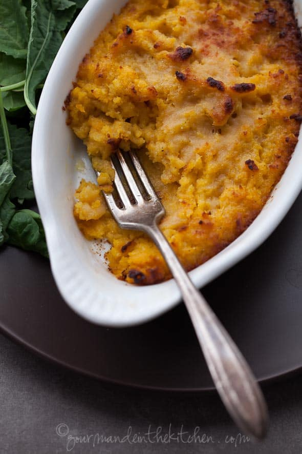 Roasted Butternut Squash with Parmesan and Sage from gourmandeinthekitchen.com  Twice Baked Roasted Butternut Squash Puree with Parmesan and Sage