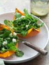 Roasted Winter Squash Salad with Goat Cheese and Pine Nuts