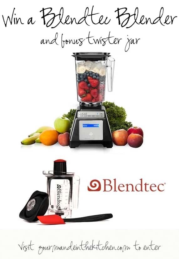 Enter to Win a Blendtec Blender and Twister Jar at Gourmande in the Kitchen