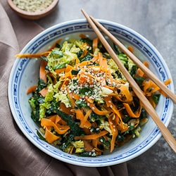 Kale Cabbage Carrot Chopped Salad-88