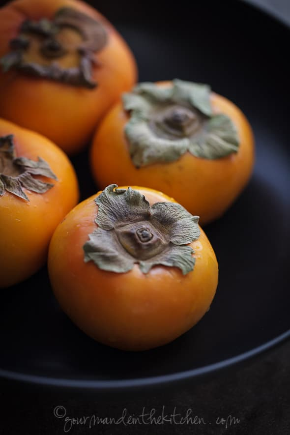 fuyu persimmons in bowl