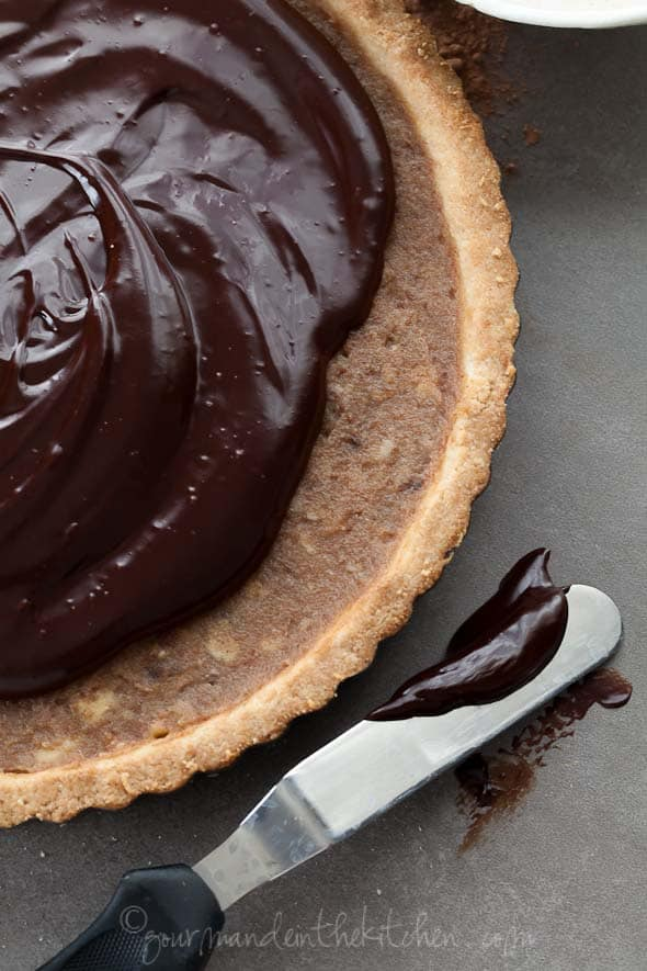 Raw Chocolate Ganache gourmande in the kitchen Chocolate Date Caramel Walnut Tart (Gluten Free, Grain Free, Vegan)
