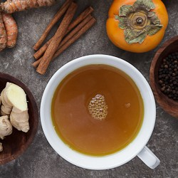 Spiced Persimmon Turmeric Tea