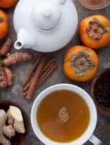 Spiced Persimmon Turmeric Tea