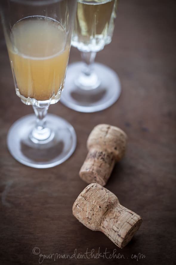 Champagne Cocktail from gourmandeinthekitchen.com  Grand Mimosa Recipe | A Sparkling Toast to the New Year