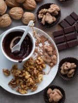Cocoa Dusted Maple Glazed Walnuts (Vegan, Refined Sugar Free, Paleo)