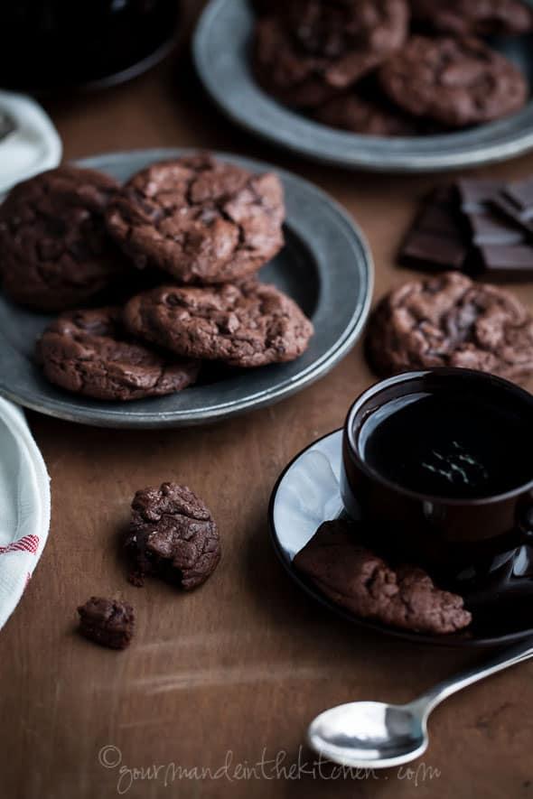 chocolate cookies, brownie cookies, paleo c ookies, gluten free chocolate cookies, food photography