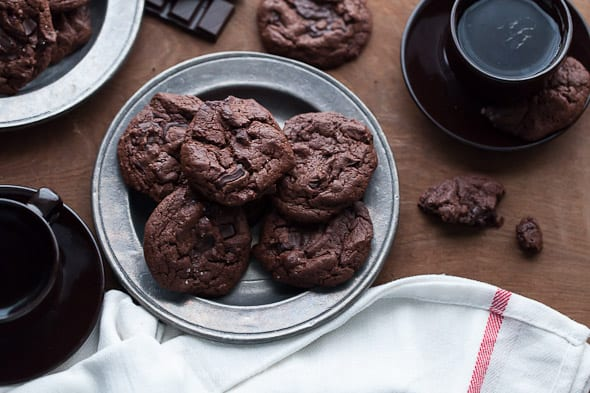 chocolate cookies, gluten free cookies, brownie cookies, chocolate paleo cookies, grain free cookies, food photography