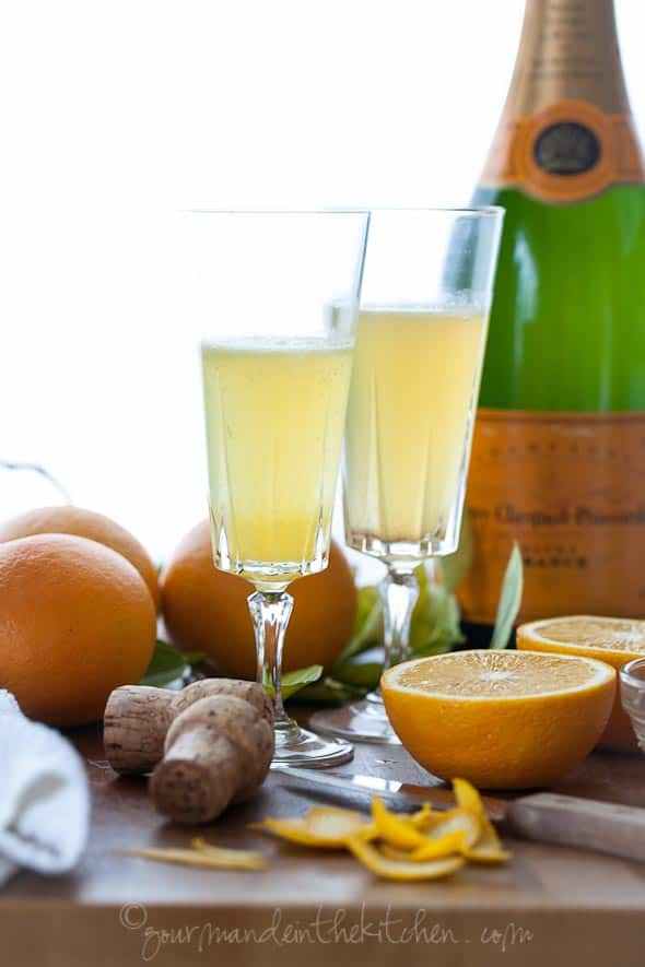 mimosa, cocktail, champagne