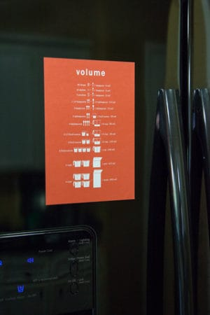 Volume Conversions Fridge Magnet from The Sweet Tooth Co.