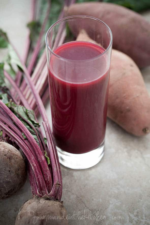 beet sweet potato juice, juice, beet juice, sweet potato juice, juicing, the benefits of juicing, recipe, food photography