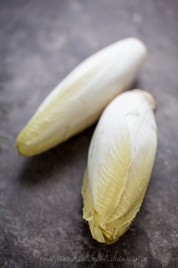 endives, salad, food photography